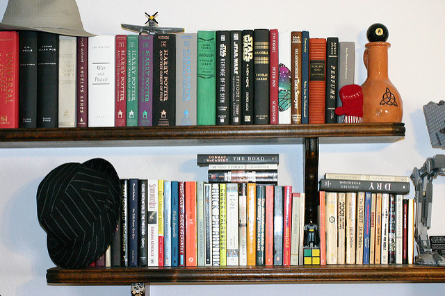 Mah Bookshelf by kreezzalee on Flickr CC