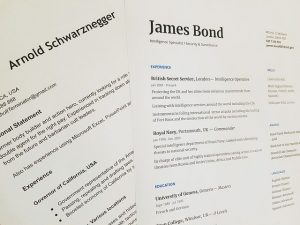 Arnold Schwarznegger James Bond CV